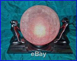 Art Deco Lamp Frankart Two Kneeling Nudes Lamp L241