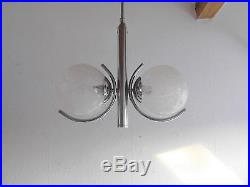 Art Deco Lampe Chrom Kugel Stab Leuhte Hängelampe Pendel Leuchte