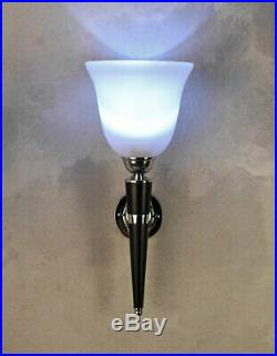 Art Deco Lampe Designer Wandlampe Mazda Fackel Wandleuchte Flurleuchte Antik