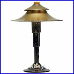 Art Deco Modernistic Table Lamp by Walter Von Nessen for Miller Co