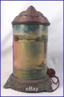 Art Deco Motion Lamp Light Niagara Falls Scene In Action Antique