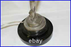 Art Deco Nude Lady Lamp, Style of max Le Verrier. Small Biba, Antique Silver pa