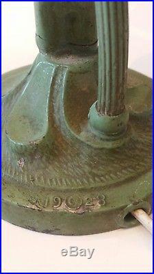 Art Deco Nude Lamp Original Green Paint Marked Copyright 1928