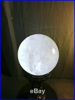 Art Deco Quartz Crystal Ball Wicca Frankart Lamp 3 Nude Flapper Women Hold Up