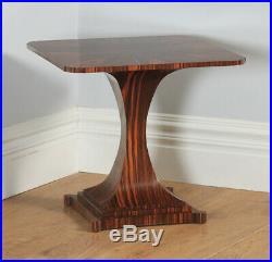 Art Deco Ruhlmann Style Harrods Macassar Ebony Centre Occasional Side Lamp Table