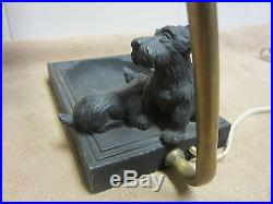 Art Deco SCOTTIE Dogs ashtray cointray with lamp unusual design trinkets jewelry
