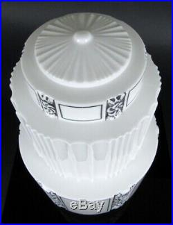 Art Deco Skyscraper Ceiling Light Lamp Shade Hanging Chandelier Milk Glass 17