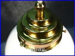 Art Deco Stil Hängelampe Opalglasschirm 200cm Länge Deckenleuchte Deckenlampe