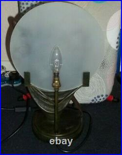 Art Deco Style Rosa Table Lamp Bronze Effect