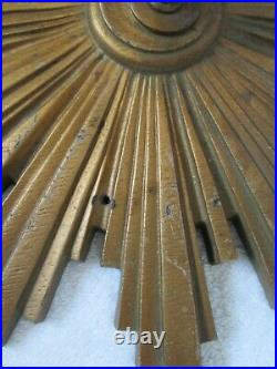 Art Deco Sunburst Starburst Wall Light/Lamp/Sconce Fixture 11 Molded Composite