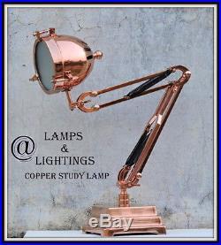 Art Deco Swing Lamp Arm Light French Bauhaus COPPER Era Old UFO Antique