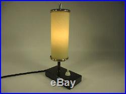 Art Deco Tischlampe 24cm Höhe Antik Tischleuchte Natursteinfuß Marmor Lampe