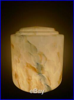 Art Deco Uranium Glass Lamp Shade For Diana Lamp, 1930s, Antique, Marbled