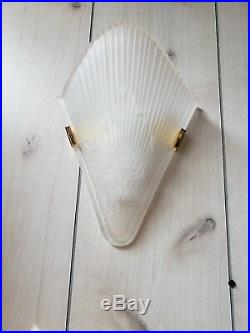 Art Deco Wall Sconce V Shape Frost Glass Unique Wall Lamp