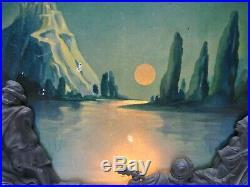 Art Deco c1931 Scene in Action Motion Lamp Gondola Boat Maiden Lake Castle