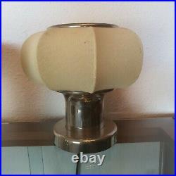 Art Deco chrom cocoon Table Lamp Schreibtischlampe Tischlampe bedside