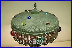 Art Nouveau Deco Jeweled Antique Vintage Tiffany Era Table Lamp Arts & Crafts