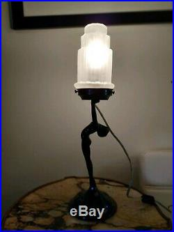 Art deco Frankart Style Sarsaparilla Figural Lamp