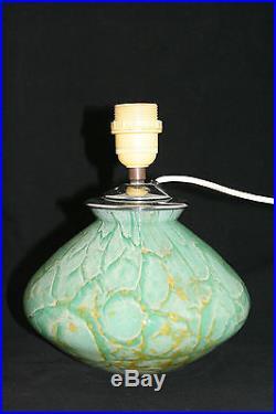 Art deco WMF IKORA glass lamp base, 1930s Germany