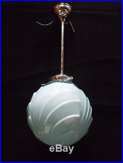 Art deco ceiling lamp. 1920/30. Original. Opaline globe (I have 3)