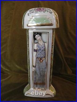 Art deco porcelain perfume lamp LIMOGES DUCHAUSSY Colonial exhibition 1931