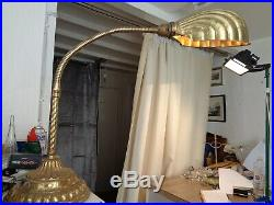 Art deco scallop shade lamp