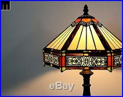 Artwork Tiffany Six-Sided Stained Glass Art Deco Table Lamp Bedside Lamp