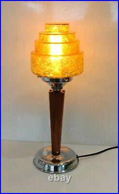 Authentic Art Deco Bakelite / Phenolic / Catalin table lamp with Stepped Shade