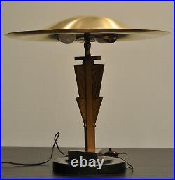 BIG VINTAGE ART DECO TABLE MUSHROOM LAMP. C. 1920. DesignerLampe. Original