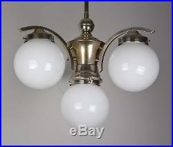 Bauhaus Art Deco Deckenlampe Nickel
