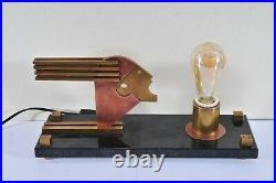 Bauhaus style table lamp, Oskar Schlemmer, art deco design