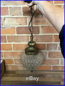 Beautiful Art Deco brass Gilded Metal ceiling lamp Light Mount And Shade