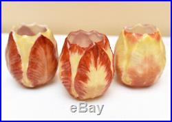 Beautiful Blown Mold French Art Deco Glass Tulip Lamp Shades Genet Et Michon