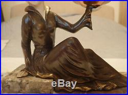 Beautiful French Art Deco Lady Lamp