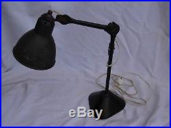Bernard-albin Gras, French Art Deco Ajustable Industrial, Desk Lamp, 1920 Years