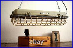 Bunkerlampe Industrielampe Fabriklampe Neonlampe EX Lampe Art Deco Bauhaus Loft