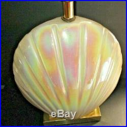 Ceramic Mother Of Pearl, Vintage Art Deco Sea Shell, Clam Table Lamp