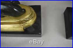 Chelsea House Table Lamps Greyhounds Art Deco Luxury Black Gold Wreath Finial