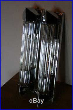 Chrome Chrom Art Deco Stil sconces Wall Lamp Appliques Wandlampe Rods skyscraper