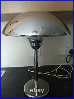 Chrome mushroom lamp, retro, vintage, art deco style, scandi style, dome, glass