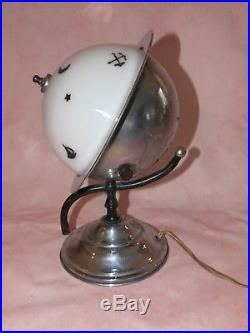 Crazy Rare Gorgeous Art Deco Chrome Saturn Lamp 1939 New York World's Fair Works