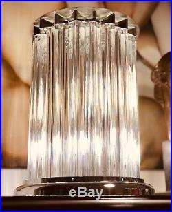 DESIGNER Tischleuchte FENDI MOD. ROMA ITALY MURANO KRISTALLE Bodenlampe ART DECO