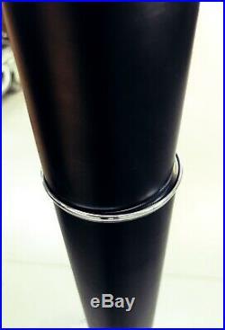 Design Art Deco Mazda Lampe Lampadaire Abat-jour verre opale Lampe noir Bois