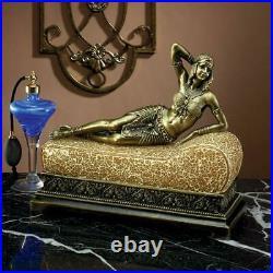 Design Toscano Cleopatra Queen of Egypt Art Deco Mosaic Glass Lamp