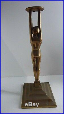 Diana Art Deco Brass Diana Naked Lady Statue Lamp Base