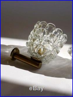 ERCOLE BAROVIER art deco appliques sconces murano glass 30s 20s wall lamps