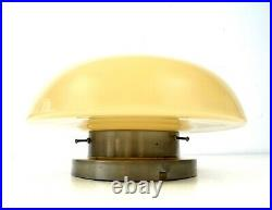 Elegant Rare Original German Bauhaus Mushroom Ceiling Lamp Glass Art Deco 1925