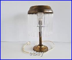 Art Deco Lamp Elegante Art Deco Tischlampe Messing