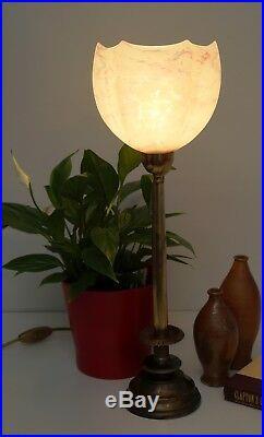 Elegante original Art Deco Art Nouveau Tischlampe Messing Berlin Lampe 1930