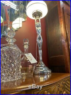 Extra Large French Art Deco Diana Lamp Original Glass Shade Fully Working